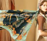100%lenço de seda para tornar a impressão personalizada