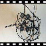 Tag gravado do logotipo do trevo com o Tag de /Garment da corda (ST037)