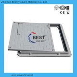 판매를 위한 D400 사각 600X600mm 플라스틱 맨홀 뚜껑
