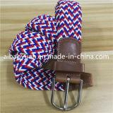 文字Dの形のバックルの密なニットの編みこみの伸縮性があるベルト
