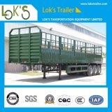 De Semi Aanhangwagen die van de Staak van de Zijgevel van de tri-bijl Lading stortgoed Vervoer