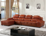 Le sofa en cuir de qualité, L sofa de forme a placé (882)