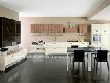Обернутые винилом кухонные шкафы кухни блока кухни мембраны PVC малые