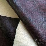 Poliestere di cuoio composto 100% del tessuto del sofà con il trattamento bronzato