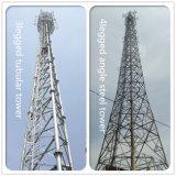 Antena 3G de acero galvanizado de ángulo de las Telecomunicaciones de la torre Autoportantes