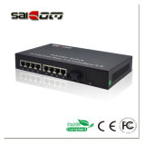 100/1000Mbps 15,4W 1GE+8FE portas Fast Ethernet Switch POE de rede