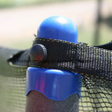 Trampolín redondo 15FT con 6 patas y red de seguridad para niños y adultos jugando
