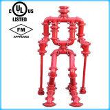 FM/UL 승인되는 연성이 있는 철 홈이 있는 십자가 (관 이음쇠)