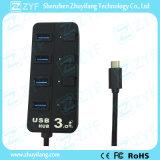 USB 3.0 de Snelle Hub van het Type C van Snelheid USB (ZYF4012)