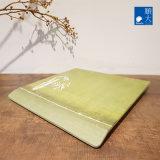 Dîner de la vaisselle Ware Surface mate vert bambou coffre en plastique durable de la mélamine plaque carrée de 9 pouces