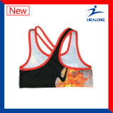 Dessus courant de soutien-gorge de sport de Double couche d'extension de forme physique de yoga de gymnastique de sublimation
