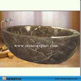 自然な石造りの浴槽の大理石の浴槽
