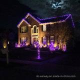 100つのLEDのすみれ色の屋外のクリスマスストリングライト動力を与えられる太陽