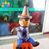 Decorazione gonfiabile della lampada della zucca personalizzata festival di spirito di Halloween LED