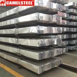 Zink van het aluminium plooide het Gegalvaniseerde Blad van het Dakwerk