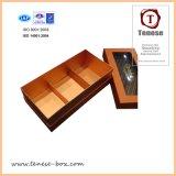 Rectángulo de regalo de empaquetado del chocolate de papel de lujo de encargo
