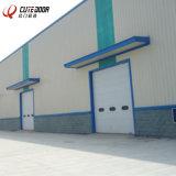 Алюминий изолированный матового закаленного полный вид верхней гараж сдвижной двери