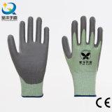 Уровень покрынный PU безопасности сопротивления отрезока PU004 работы перчатки 3 или 5