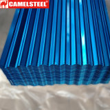 Feuille ondulée en acier de toiture de couleur de matériau de construction