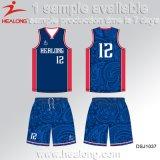 Baloncesto reversible Jersey de la sublimación de Healong con alta calidad