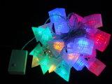 Luzes da corda do diodo emissor de luz com tampas diferentes, Rosa, estrela, para o casamento do partido de feriado, luz de Natal