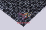 Negro Piedra Mix Mosaico de cristal agrietado azulejo (CS127)
