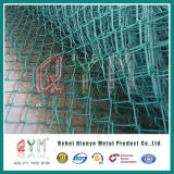 Загородка звена цепи ячеистой сети загородки сетки PVC Coated цепная/диаманта