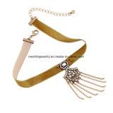 Colgante femenino del diseño de la borla del collar de la cinta europea y americana de la manera