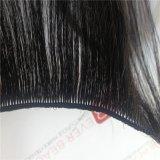 まっすぐな手によって結ばれる毛のよこ糸の100%年のバージンの人間の毛髪