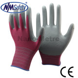 Nmsafety 13G Polyster Nitrile Coated Hand Safety Working Gloves