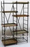 5 Уровень старинной Vintage декоративные деревянные и металлические настенные полки для адресной книги
