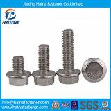 Parafusos de flange hexagonal DIN6921 de aço inoxidável Ss304