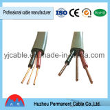 Cable aislado PVC de la base del plano 2 de BVVB+E para los edificios