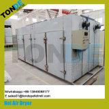 Máquina de secagem de vegetais de frutas em circulação de bandeja de aço inoxidável