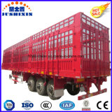 半高品質の三車軸家畜及び農場の貨物キャリアの棒のトラックユーティリティトレーラー