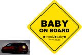 A bordo do bebê Adesivo Refletivo para a segurança