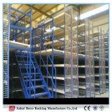 Estante de acero del entresuelo del almacenaje del almacén con Decking del acoplamiento de alambre