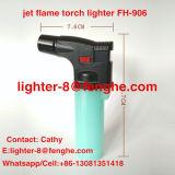 Alumbrador a prueba de viento Fh-906 del cigarrillo del Bbq del alumbrador de la antorcha de la llama de jet