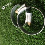 Гальванизированный зажим для резиновой трубы провода, двойной зажим для резиновой трубы провода