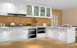 Modèle moderne de cuisine de meubles de maison de porte de fini de PVC de type (zc-014)