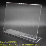 Acrylic Clear Table Sign Holder with Business Card Pocket