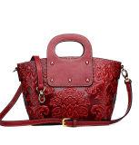 Emballage en cuir rouge fait sur commande de luxe à extrémité élevé de type chinois pour des dames