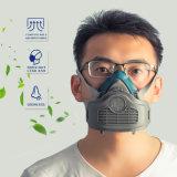 Metade do cartucho de rosto respirador facial de poeiras de gases com máscara com filtro substituível