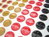Etiquetas abobadadas de resina epóxi durável