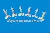 IV Katheter, federähnlich, mit Flügel, Injektionsöffnung
