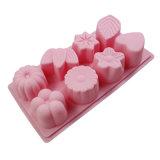 La FDA de nouveau produit délivrent un certificat le moulage matériel de gâteau de silicones de catégorie comestible, moulage Shaped différent de gâteau des silicones 8