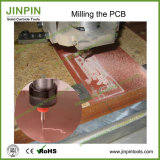Herramienta de corte de máquina del CNC del carburo de tungsteno del ranurador del PWB de la corriente descendente de 2.5 milímetros mordido en existencias de
