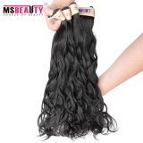 インドのバージンの自然な波の毛の加工されていない卸し売りインドのRemyの人間の毛髪