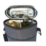 Sacchetto isolato del dispositivo di raffreddamento di vino dell'elemento portante di corsa delle 2 bottiglie con l'apri di bottiglia