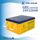 Batterie solaire rechargeable profonde du gel 24V 120ah de cycle pour la mémoire